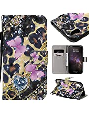 """Wallet Leather Case for iPhone 11 Pro Max 6.5"""" 2019,Aoucase Ultra Slim Fancy 3D Painted Full Body Soft Silicone Card Slot Strap Stand PU Leather Case with Black Dual-use Stylus - Pink Butterfly"""
