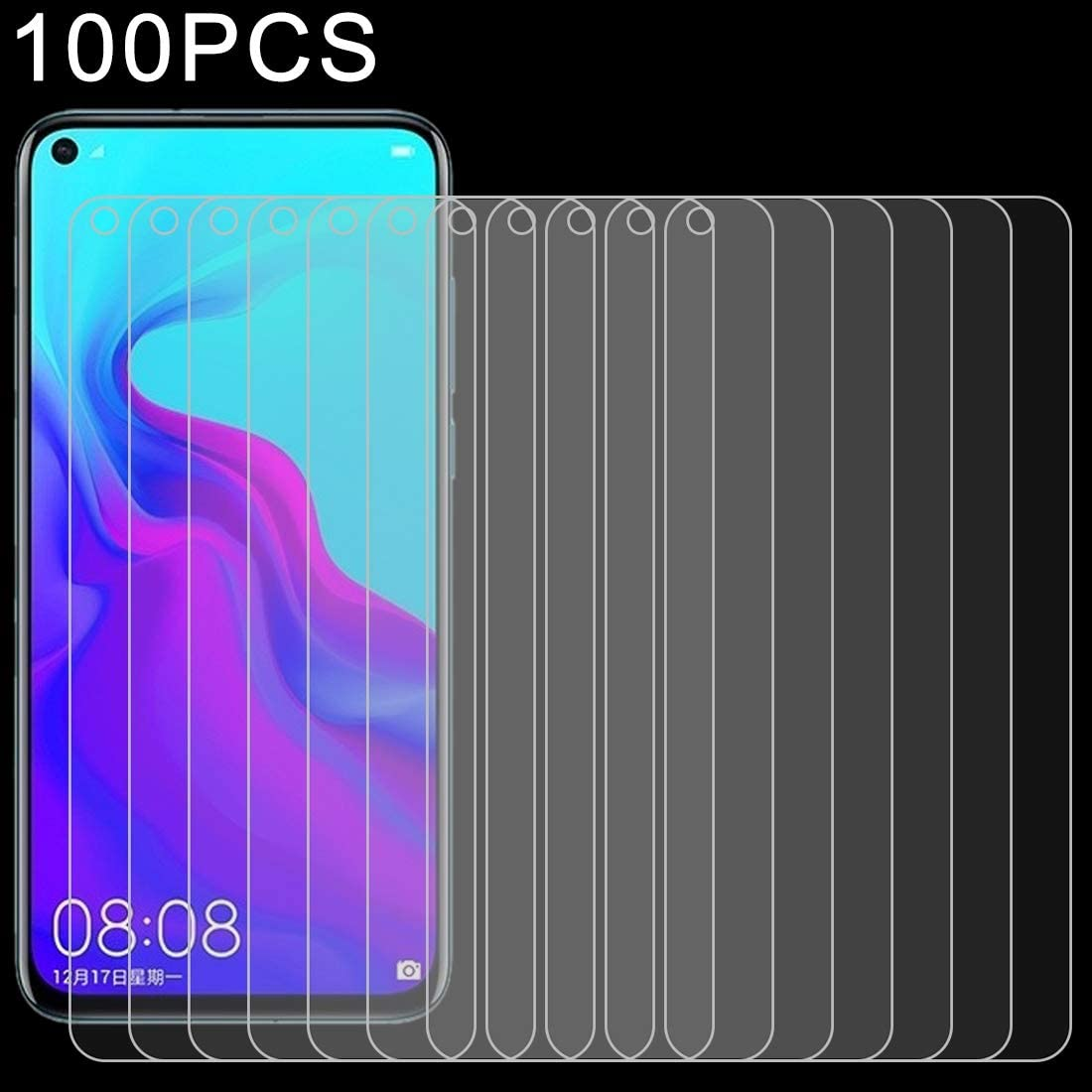 ALICEWU WJH 100 PCS 0.26mm 9H 2.5D Explosion-Proof Tempered Glass Film for Huawei Nova 4