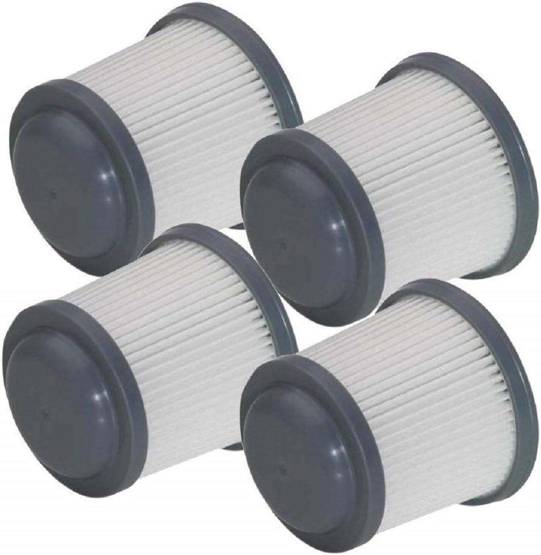 4 Pack Replacement Filter for Black & Decker Power Tools PVF110 Cordless Vacuum PHV1410, PHV1810, PHV1210, BDH2000PL, BDH2020FLFH BDH1620FLFH N566707 90552433-01