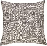 Amazon Brand – Stone & Beam Casual Global Throw Pillow - 20 x 20 Inch, Char