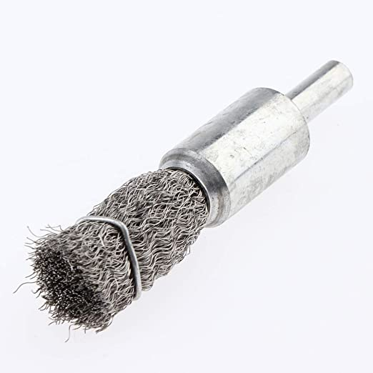 6 x 16mm 0.15 6mm Shank Stainless Steel Polishing Wire Pen Brush Rust Paint Removal Tool