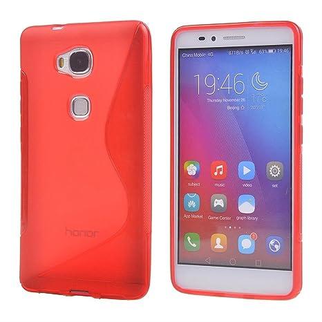 Huawei Honor 5X Funda,COOLKE Soft TPU Gel Funda Carcasa Tapa ...