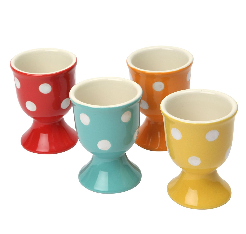 Dexam Polka Spot Dot Ceramic Egg Cups, Set of 4 - 17830301 TRTAZ11A