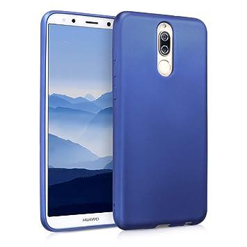 kwmobile Funda para Huawei Mate 10 Lite - Carcasa para móvil en [TPU Silicona] - Protector [Trasero] en [Azul Metalizado]