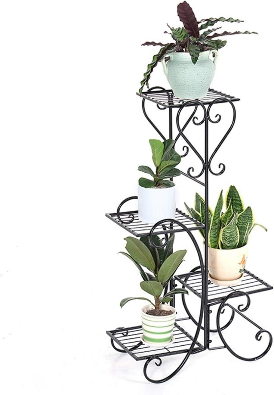 JISHIYU 4 Plantas en Interiores y Exteriores Flor de la Hierba Plantar la Flor de artesa 3 macetas Macetas y un Estilo Moderno (Negro)