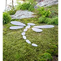 Plow & Hearth Decorative Stones Dragonfly Garden Accent