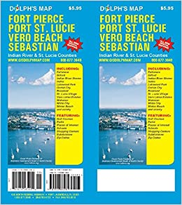 Where Is Port St Lucie Florida On The Map.Fort Pierce Port St Lucie Vero Beach Sebastian Florida Map Dolph