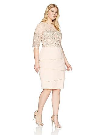 Amazon.com: Yummy Eletina Women\'s Plus Size Short Dress with Beaded ...