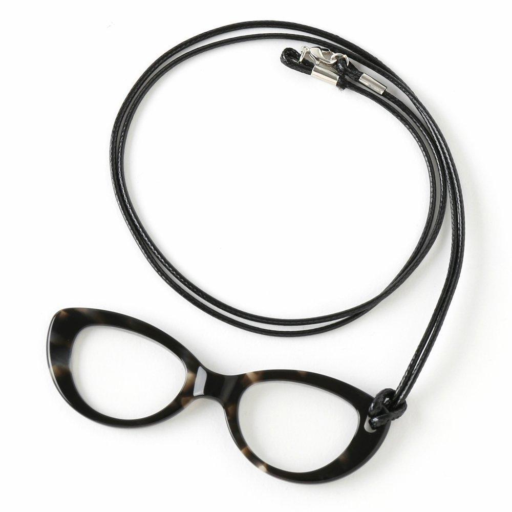 /grossissant et lunettes de lecture All in One Pg002/C8 Fine ac/étate Lorgnette Loupe avec cordon pour femme/ Midi marbr/é /Éb/ène