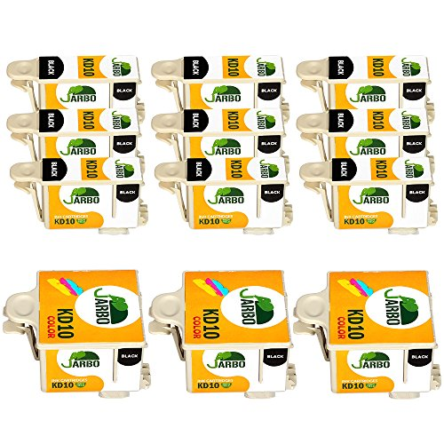 JARBO Compatible Ink Cartridge Replacement For Kodak 10XL High Yield, 9 Black+3 Tri-Color, Compatible With Kodak Easyshare 5100 5300 5500 ESP 3 ESP 3250 ESP 5 ESP 5250 ESP 7 ESP 7250 ESP 9 ESP 9250