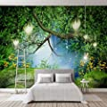 BZDHWWH Custom Any Size Murals Wallpaper 3D Dream Green Forest Landscape Wall Cloth Living Room Tv Bedroom Background Wall Papers Decor