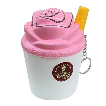 Squishy kawaii – Squishy Squeeze Toy – feixang® Niño Taza del helado de leche juguete