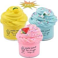 6Wcveuebuc Slime Kits 3 Pack Party Geschenken Super Zachte Stretchy en Niet Sticky DIY Boter Slijm Speelgoed voor Kids…