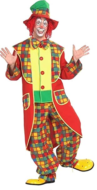 Karnevals Gigant Clown Kostum Bunt Fur Erwachsene Grosse 50 3