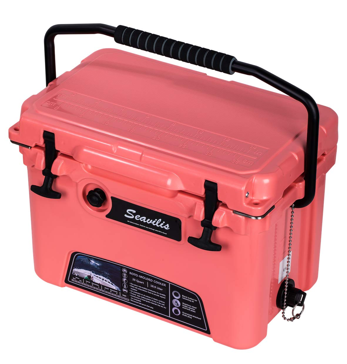 Included $28.0 Accessories MILEE-Heavy Duty Cooler 20QT RED Basket and Cup Holder are Free