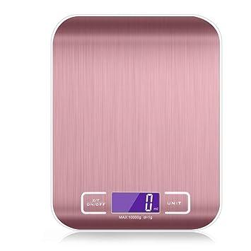 ZHANGYUGE 5 kg/1 g Color Oro Rosa de Acero Inoxidable Báscula de ...