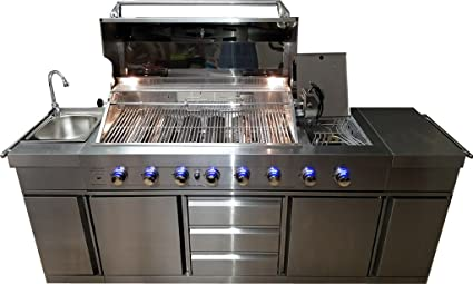 SDI Factory Direct 3 in 1 Stainless Steel Outdoor BBQ Kitchen Island Grill Propane LPG w  sc 1 st  Amazon.com & Amazon.com: SDI Factory Direct 3 in 1 Stainless Steel Outdoor BBQ ...