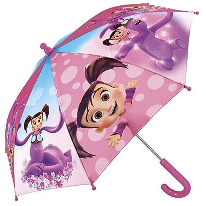 Paraguas Kate & MimMim - Paraguas para niña rosa, largo - Seguro, con tacos