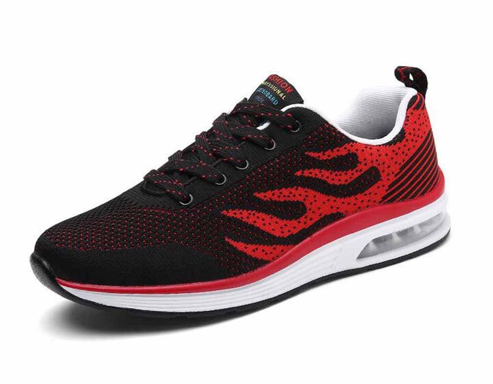 Hombres Zapatillas De Correr De Punto 2018 Zapatos Ocasionales Del Amortiguador De Aire Del Verano De La Primavera Zapatos Atléticos De Gran Tamaño ( Color : Rojo , tamaño : 42 ) 42|Rojo