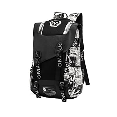 Laptop école de mode sac à dos léger Backpack Voyage,ex impression blanc