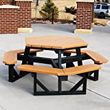 Jayhawk Plastics Hex Recycled Plastic Commercial Picnic Table Review