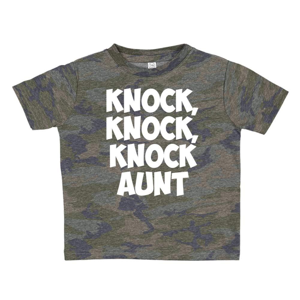 Knock Toddler//Kids Short Sleeve T-Shirt Knock Aunt Knock