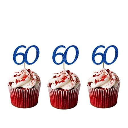 24 Precut MAN Age 60 Sixty Sixtieth 60th Birthday Edible Wafer Paper Cake Toppers Decorations Top That Christmas Gift Ideas 2018