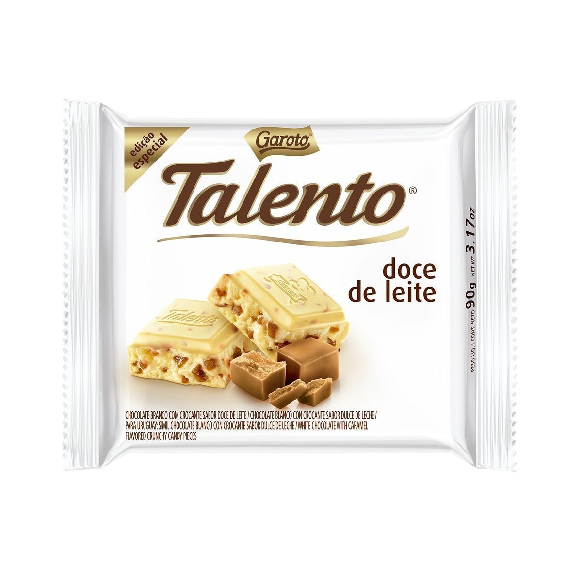 Amazon.com : Garoto - Talento - Dulce de Leche - 3.53 Oz (PACK OF 12) | Doce de leite - 100g : Grocery & Gourmet Food