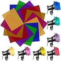 EMAGEREN 14 Piezas Filtros de Colores para Luces Gelatina de Colores Transparente Filtros Fotográficos de Plástico…
