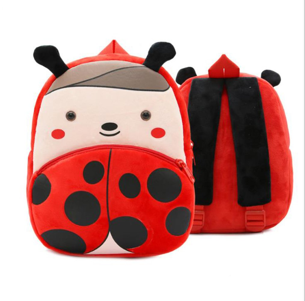 Cute Toddler Backpack Toddler Bag Plush Animal Cartoon Mini Travel Bag for Baby Girl Boy 1-6 Years (Beetle) by NICE CHOICE (Image #6)