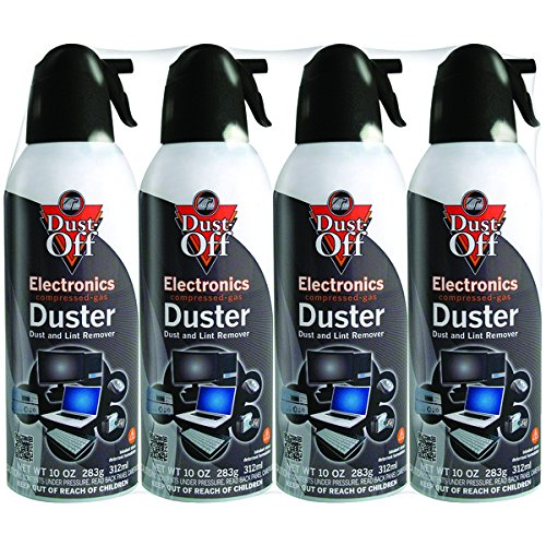 Dust-Off DPSXL4A Electronics Duster Compressed Air 10oz Cans 4-Pack by Dust-off(r)