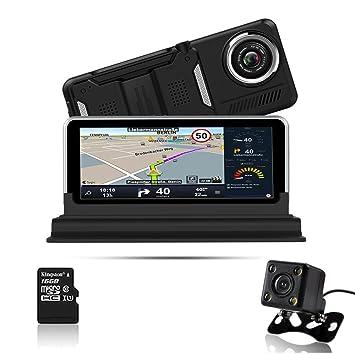 Wicostar JS 2 en 1 pantalla LCD táctil de navegación GPS coche cámara 6,5