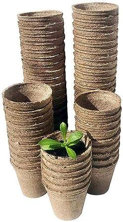 "Plant Seedling Saplings /"" Herb Starters Kit Pots 50 Pcs Peat Pots Vegetable 10"