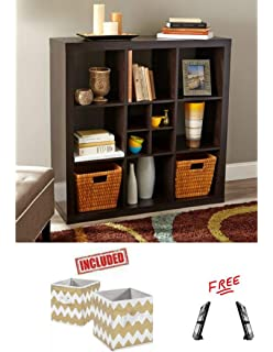 9f6dae61d76a Amazon.com: Better Homes and Gardens 5-Cube Organizer Weathered ...