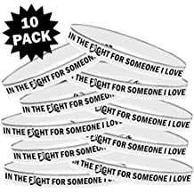 In The Fight For Someone I Love Silicone Wristband Bracelet 10-Pack Multiple Color Choices
