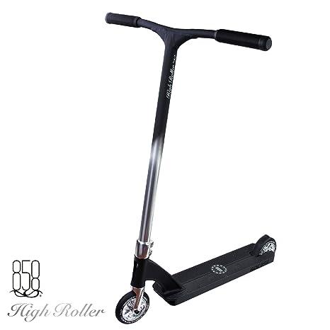 Patinete High Roller Scooter con cuello de tubo forjado para evitar roturas + base fuerte con barras de aluminio reforzadas patentadas para el máximo ...