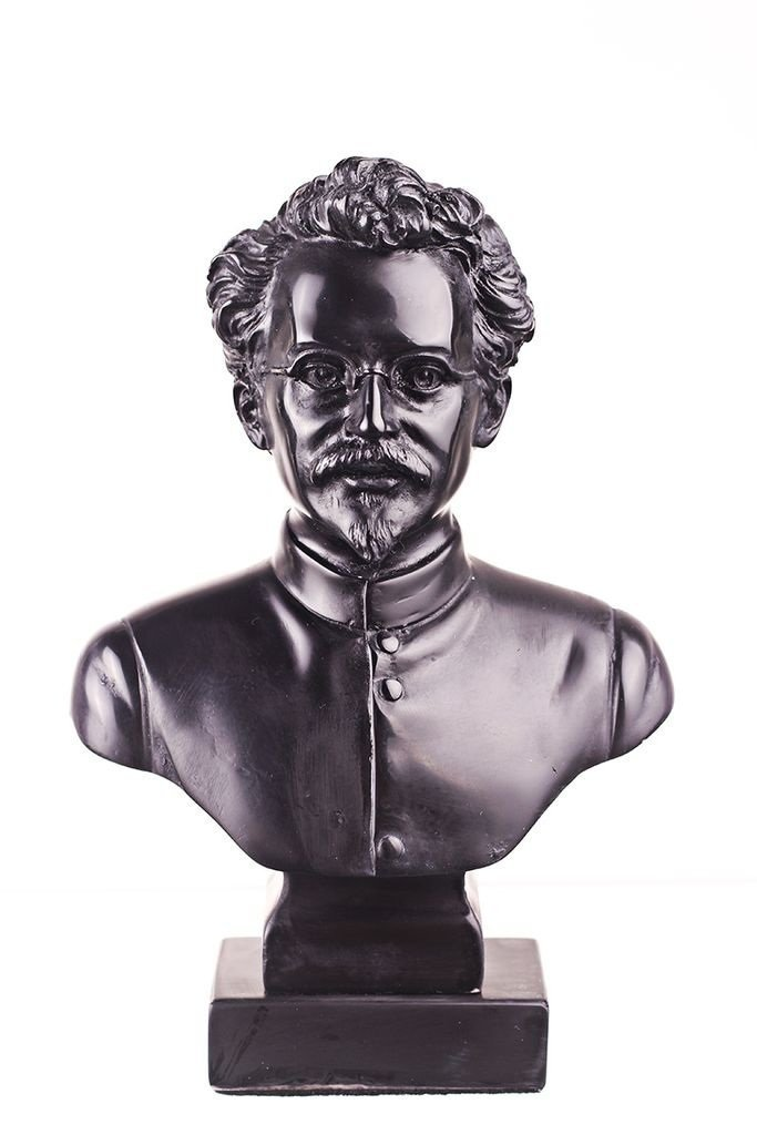 Soviet Russian Ussr Communist Leon Trotsky scultura in pietra statua busto 16cm danila2k2