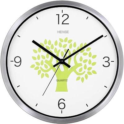 Amazon Com Bulova C4844 Winston Wall Clock Silver Home