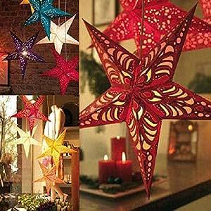 Di metro 30cm tridimensional techo laser estrella del for Amazon decoracion navidad