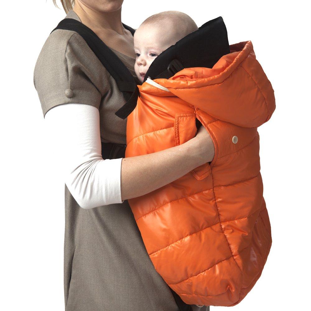 7AM Enfant Pookie Poncho Light Baby Bunting Bag, Orange Peel