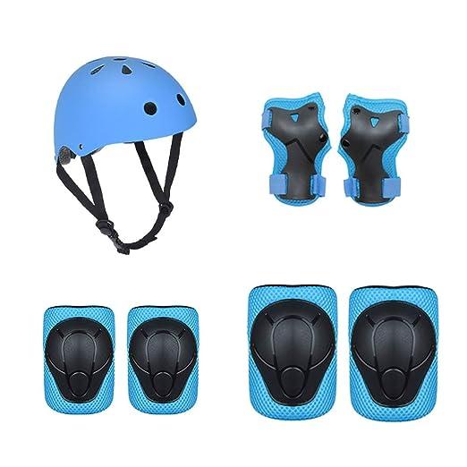 Casco de bicicleta de seguridad para niños, conjunto de equipos de ...
