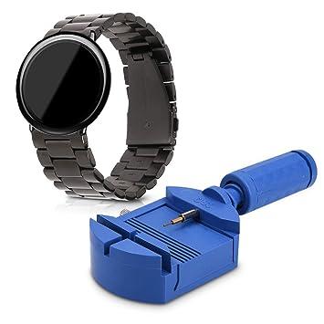 kwmobile Correa de Reloj para Xiaomi Huami Amazfit - Pulsera de Repuesto para Smartwatch de Acero Inoxidable - Banda de Reloj con Cierre Plegable: ...