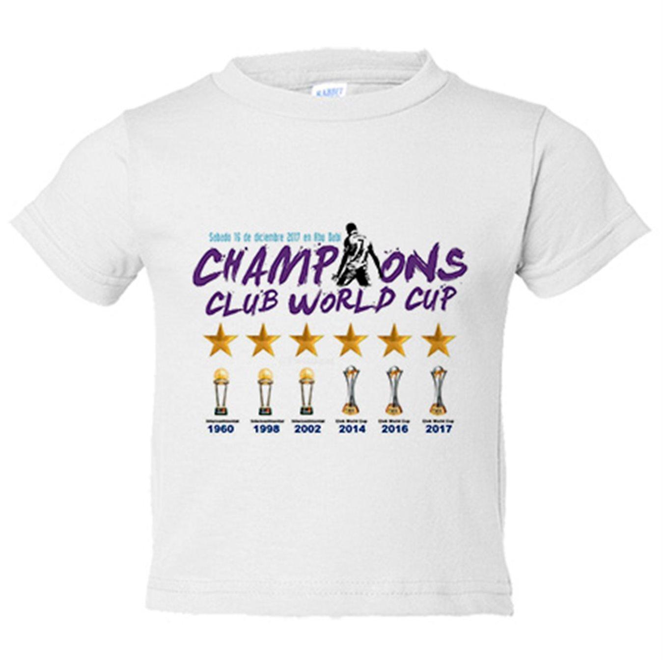 Camiseta niño Real Madrid campeón Mundial de Clubes 2017 fútbol - Blanco, 12-14 años: Amazon.es: Bebé
