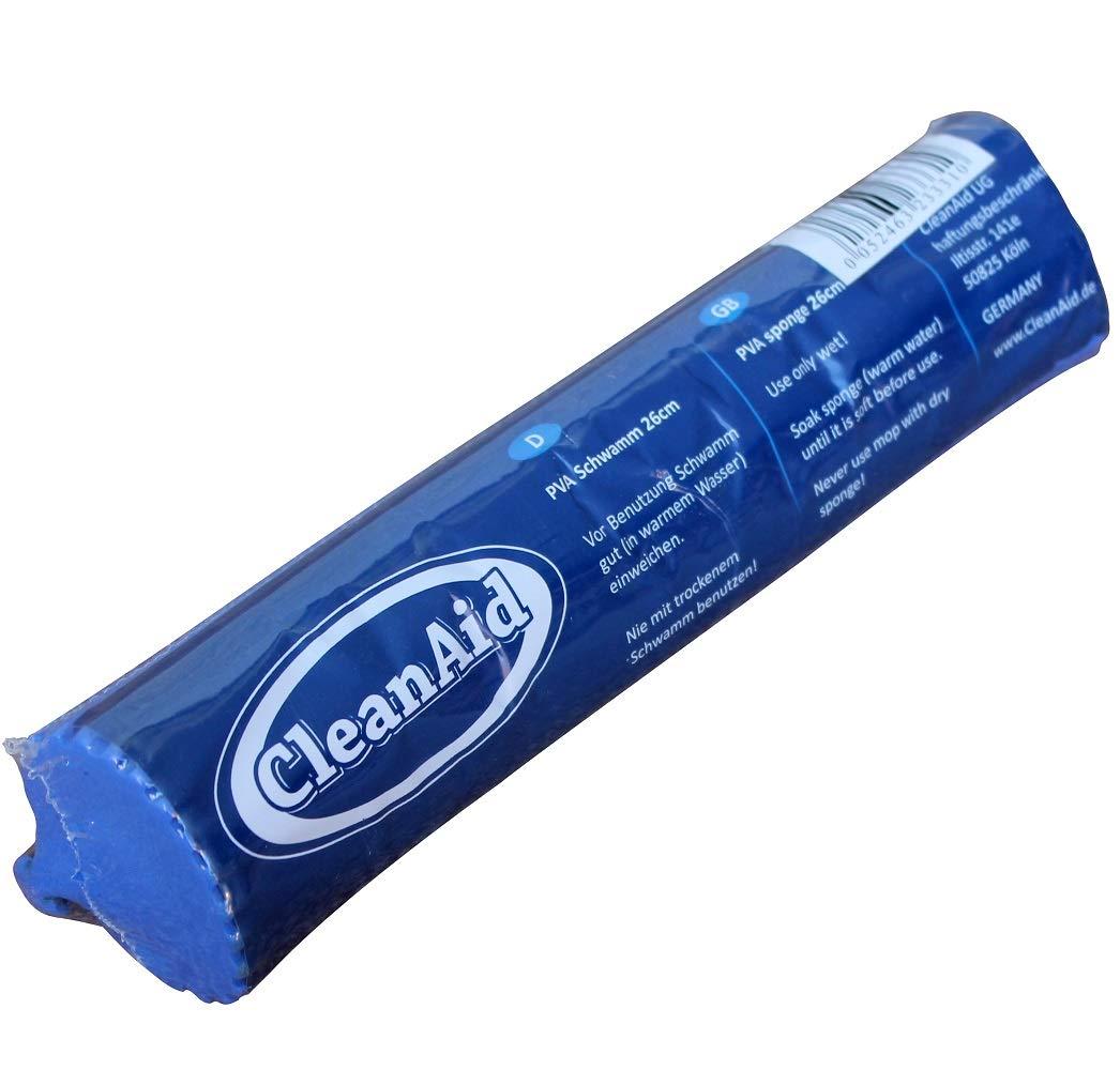 CleanAid® OneTouch EASY Wischmop | Bodenwischer | Wringmop Besonders saugstark mit PVA Schwamm und Teleskopstil (Ersatzschrauben Set) workingHOUSE