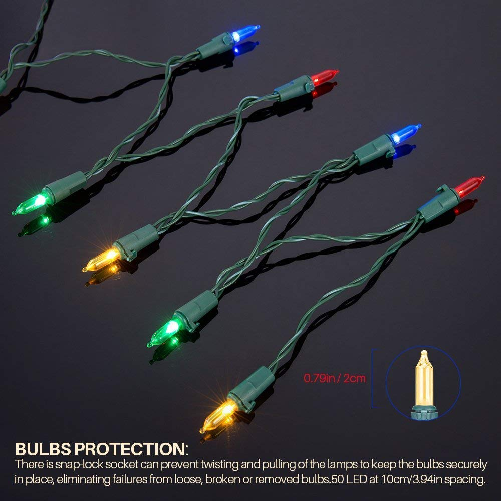 Battery String Lights Christmas Lights - Flight 50LED ...
