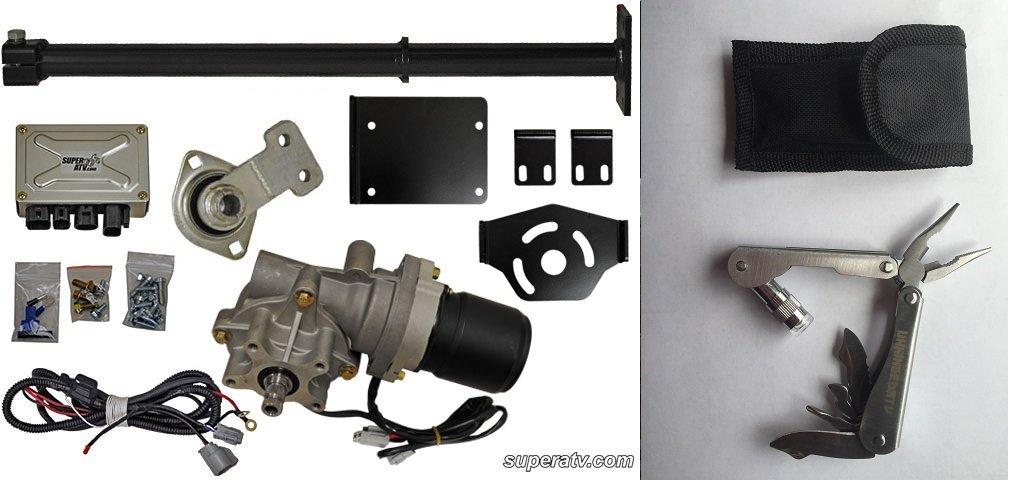 Bundle 2 items: WATERPROOF!! SuperATV Polaris Sportsman EZ Steer Power Steering Kit and FREE Unhinged ATV Multi-Tool