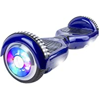 Gyrocopters PRO 4.0 Hoverboard - UL 2272 Certified with Bluetooth, LED Wheels, APP, No Fall Technology, Top and Front Lights (Blue)