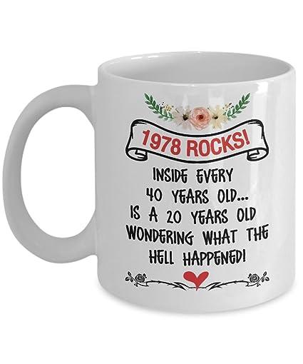 Happy 40th Birthday Mugs For Women 11 Oz