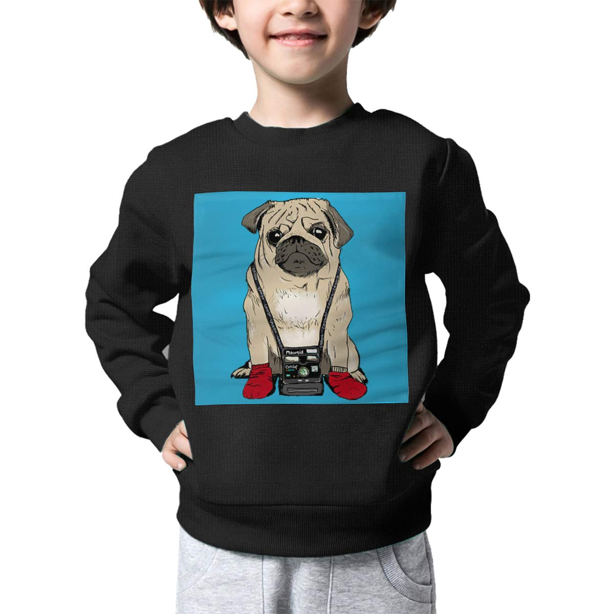 Rainbowhug Photographer Pug Dog Kids Sweater Ugly Warm Sweater Toddler for Girls Boys