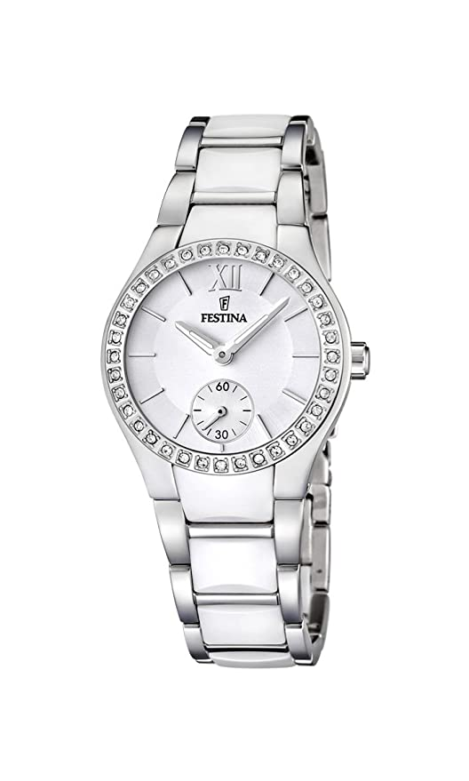 Amazon.com: Womens Watch Festina F16637/1 Ceramic and Stainless Steel Band: Watches
